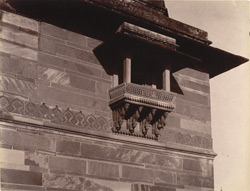 Balcony window on east façade of Jodh Bai's Palace, Fatehpur Sikri
